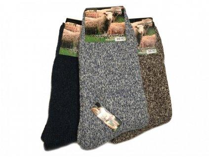 Termo vlněné ponožky - 2 páry vel. 35-38 mix barev
