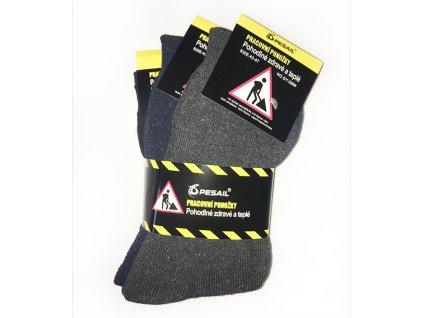 Bavlněné pracovní ponožky 3 páry