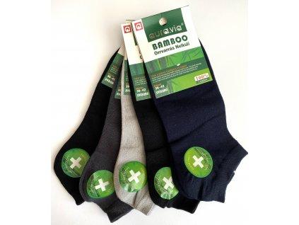 Pánské bambusové kotníčkové ponožky mix barev 5ks