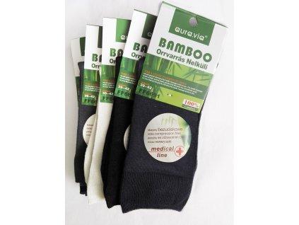 Zdravotní Bambusové ponožky - 5 párů