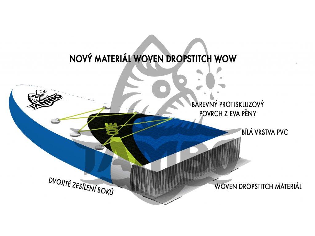 nafukovaci sup paddleboard tambo race 14x23,5 esd ict II