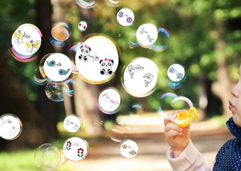 Dětské náušnice - ideální dárek pro malé parádnice