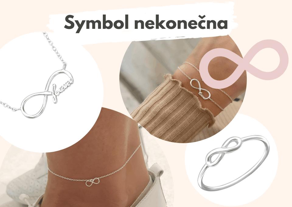 Šperky se symbolem nekonečna
