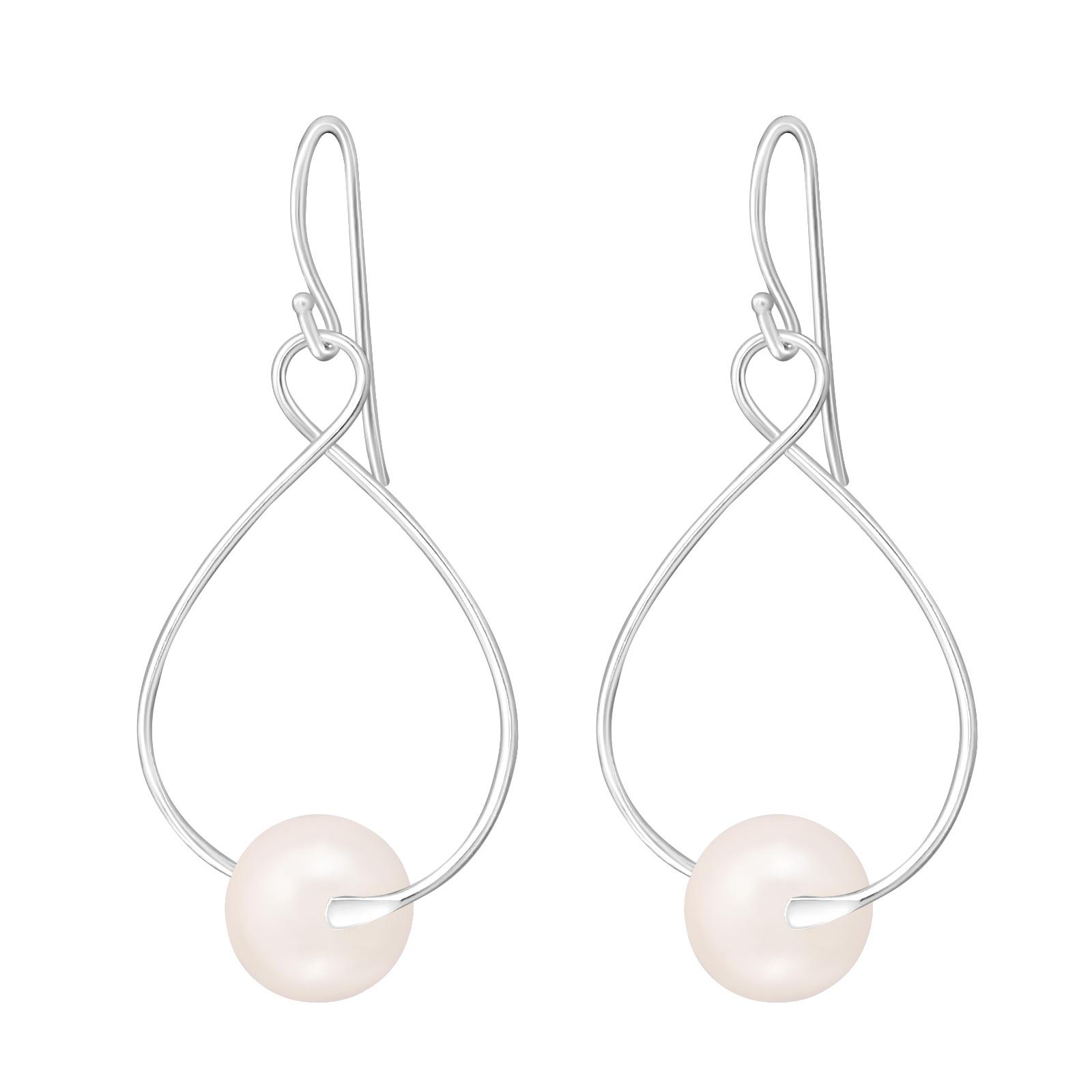 Náušnice stříbrné s perlami