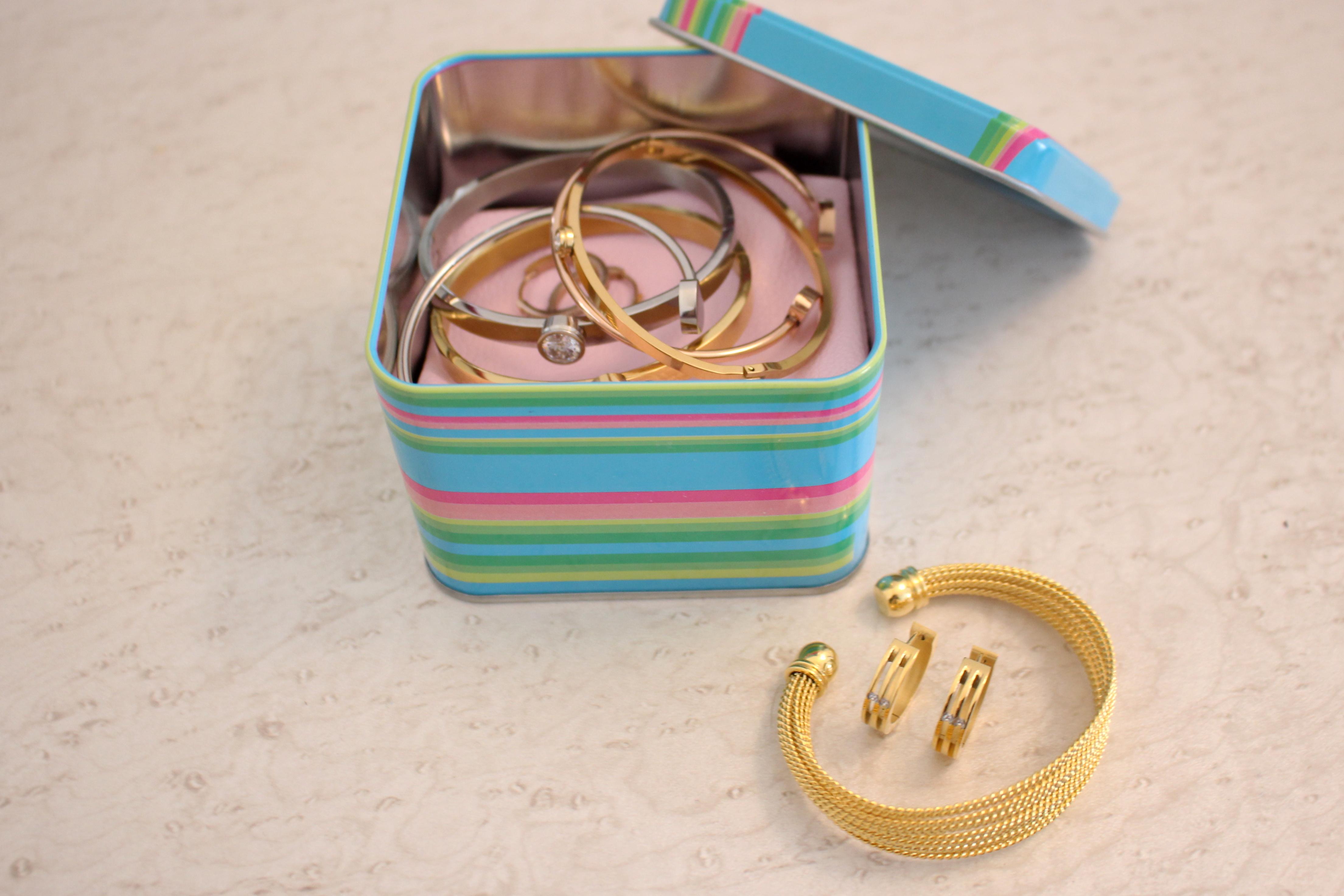 šperky v krabičce