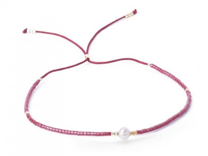 Korálkový náramek s perlou Bangles