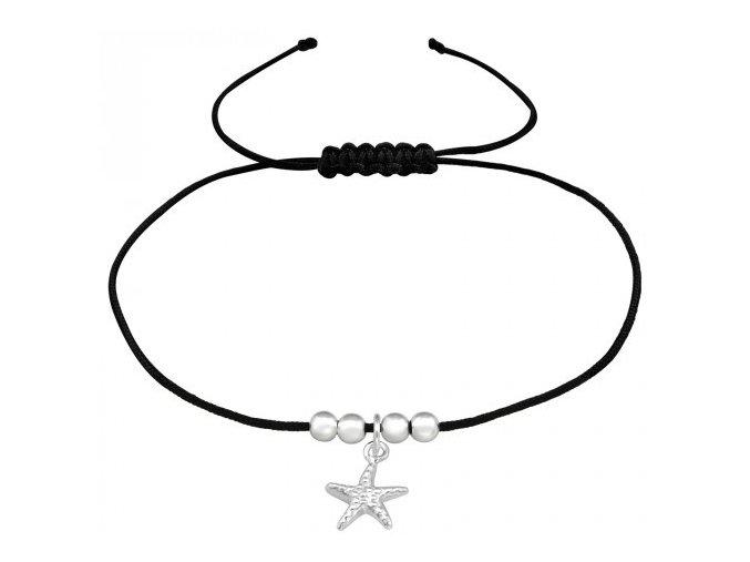 Náramek Hvězdice šňůrkový