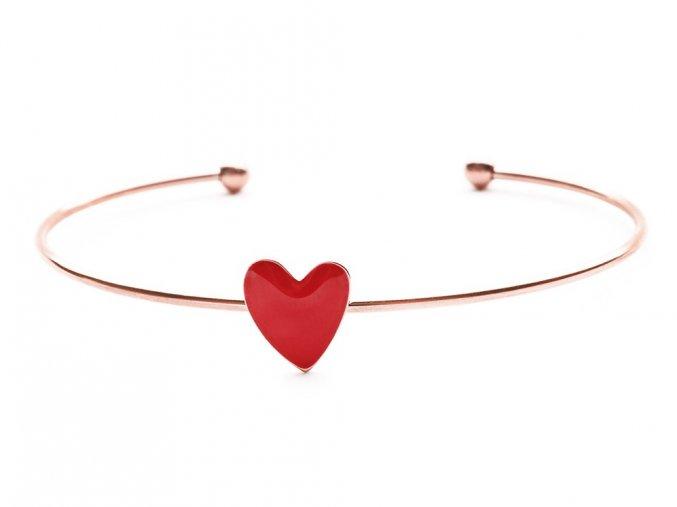 Náramek chirurgická ocel Blush Heart