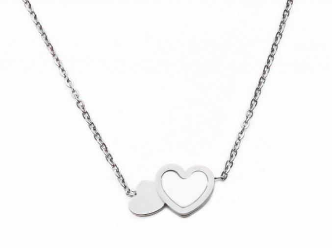 Řetízek shell heart silver