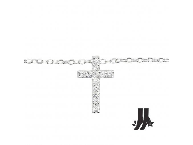 Náramek na nohu Křížek bangles