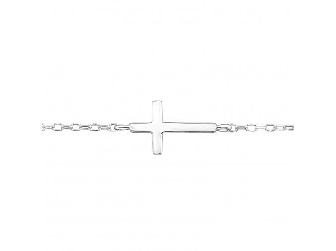 Náramek Křížek hladký stříbro