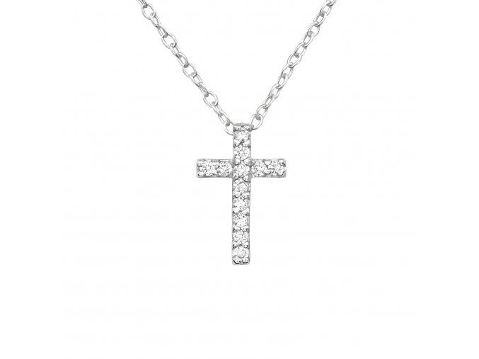 Stříbrný řetízek s křížkem