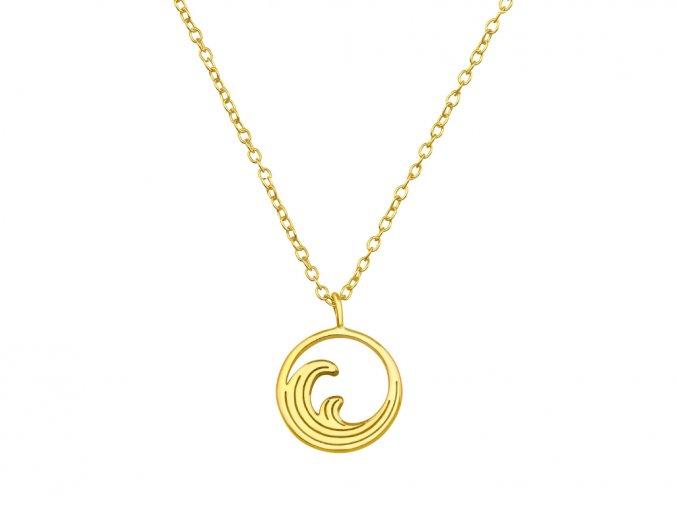 Řetízek Vlny gold stříbro 925