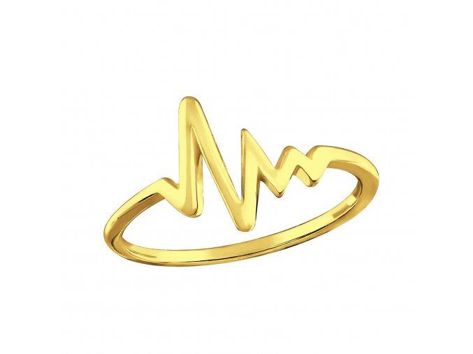 Prsten srdeční puls gold