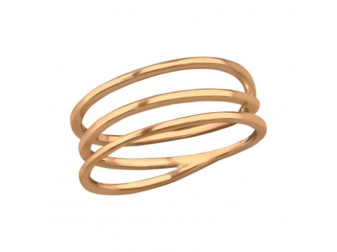 Prsten Spiral rose gold