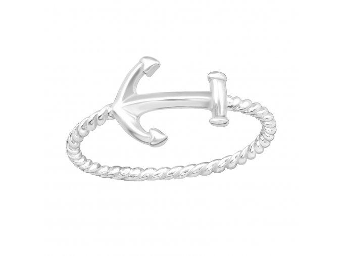 Stříbrný prsten Kotva