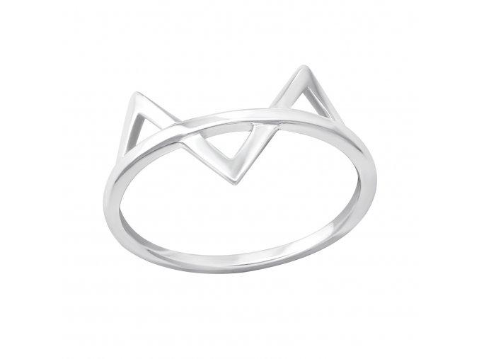 Stříbrný prsten Kočička