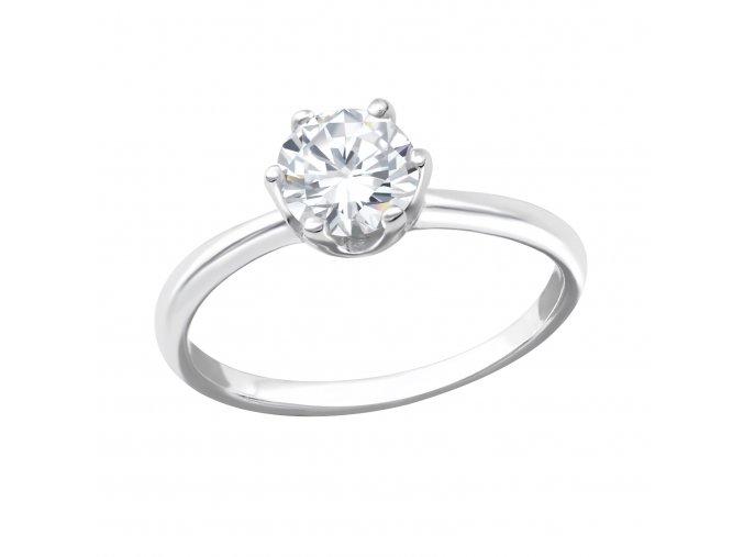 Prsten Zirkon stříbro 925
