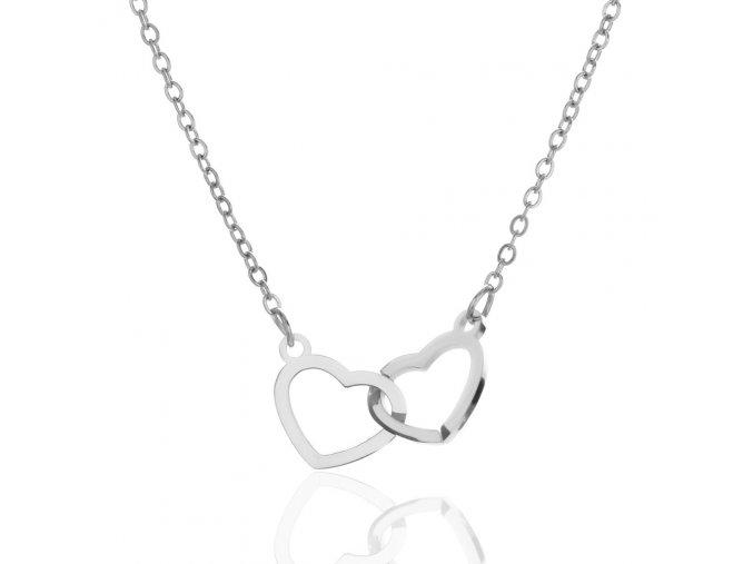 Řetízek Spojená Srdce stříbro 925