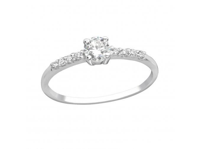 Prsten se zirkony Diana stříbro 925