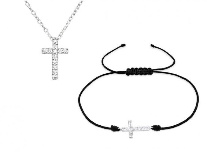 Set řetízek a náramek Křížek