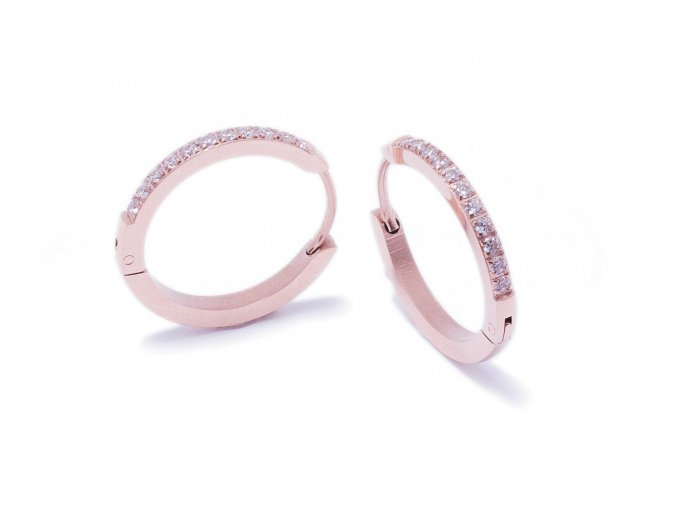 Náušnice Zirconia rose gold