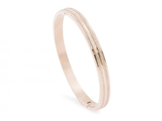 Náramek z oceli Bangle rose gold