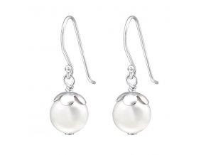 Stříbrné náušnice perly závěsné
