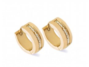 Náušnice Glance gold bangles
