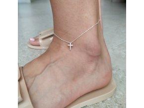 Náramek na nohu Křížek