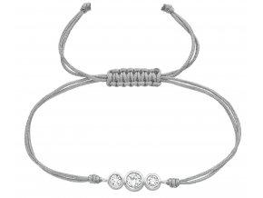 Šňůrkový náramek s krystaly Swarovski bangles