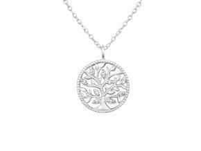 Stříbrný řetízek Strom života