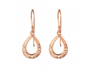 Náušnice Orient rose gold stříbro 925
