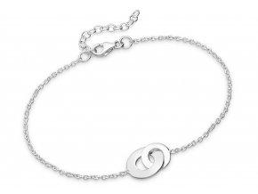 Náramek spojené kroužky stříbro bangles