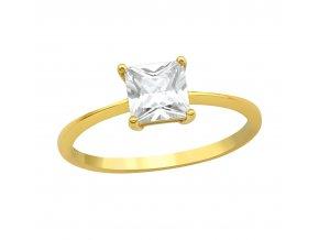 Prsten Gold se zirkonem bangles