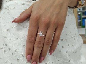 Stříbrný prsten Zajíc