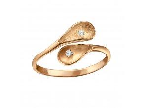 Prsten Fountain rose gold stříbro