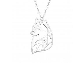 Stříbrný řetízek s přívěskem lišky