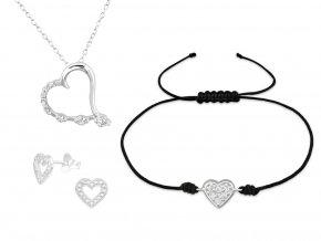 Stříbrné šperky se srdcem