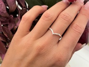 Prsten kapka stříbrný
