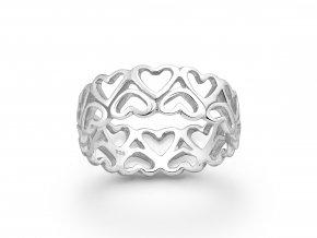 Prsten Krajkové Srdce stříbrný