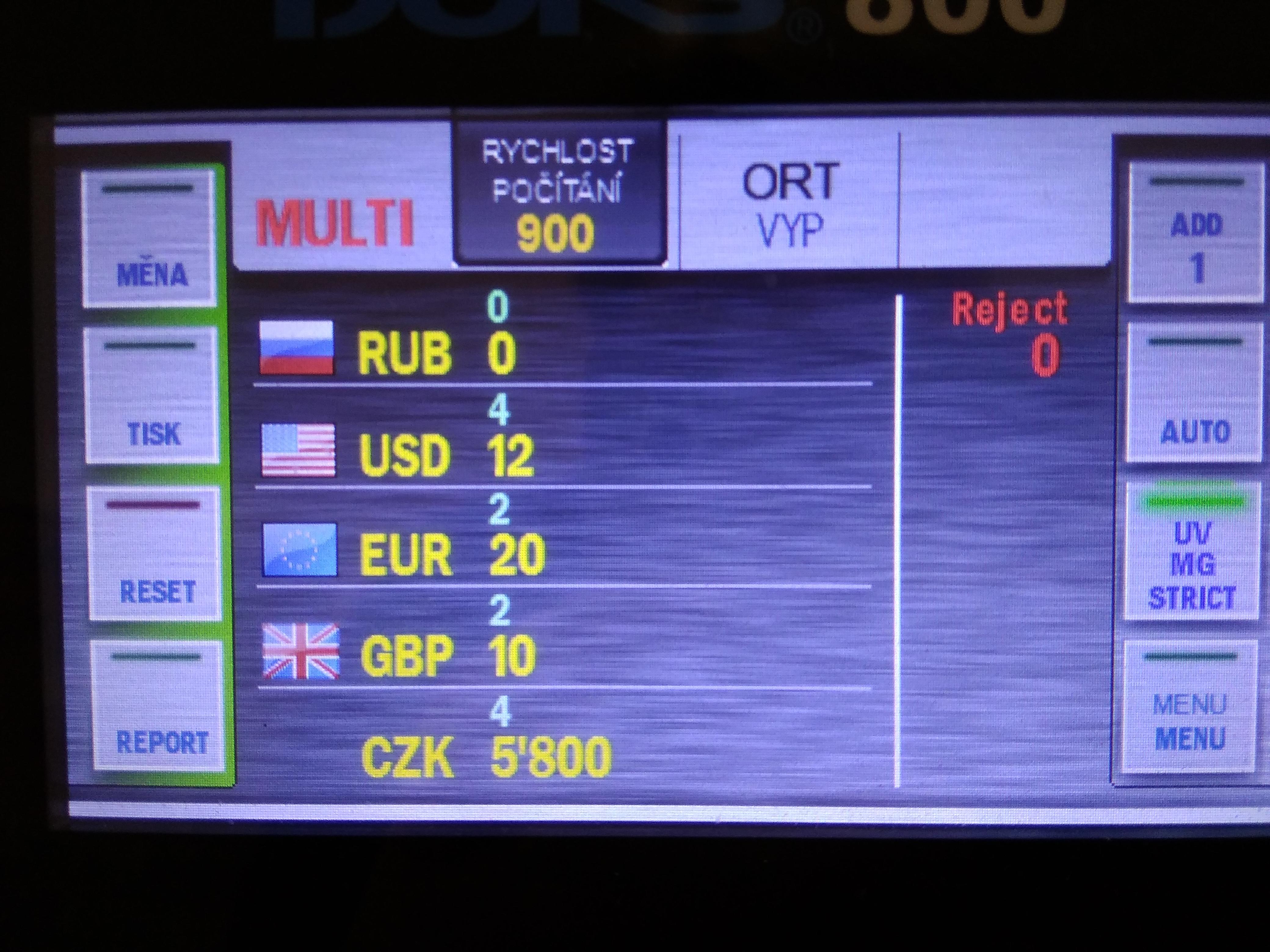 """Nová funkce """"MULTI"""" počítačky bankovek DORS 800"""