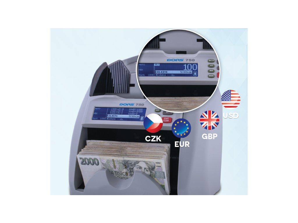 Počítačka bankovek Dors750