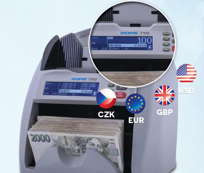 Počítačka bankovek DORS 750