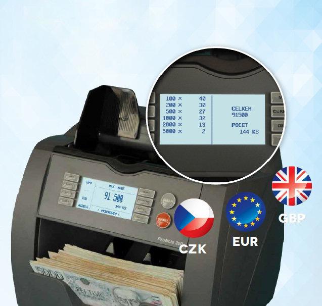Počítačka bankovek ProNote 200
