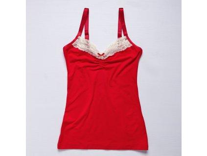 košilka červený bambus ecru krajka 1800pix