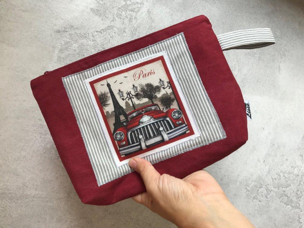 Kosmetická taška - pouzdro - Cestujeme do Paříže