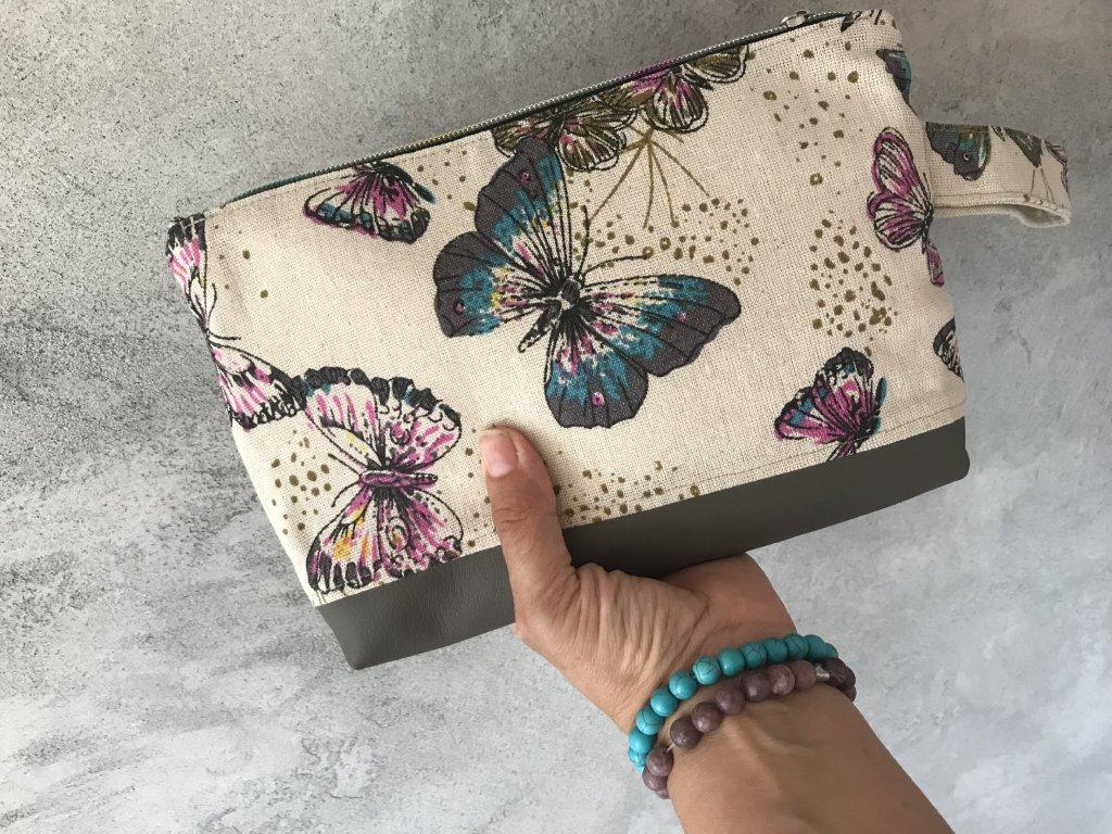 Kosmetická Taška - pouzdro - motýlí