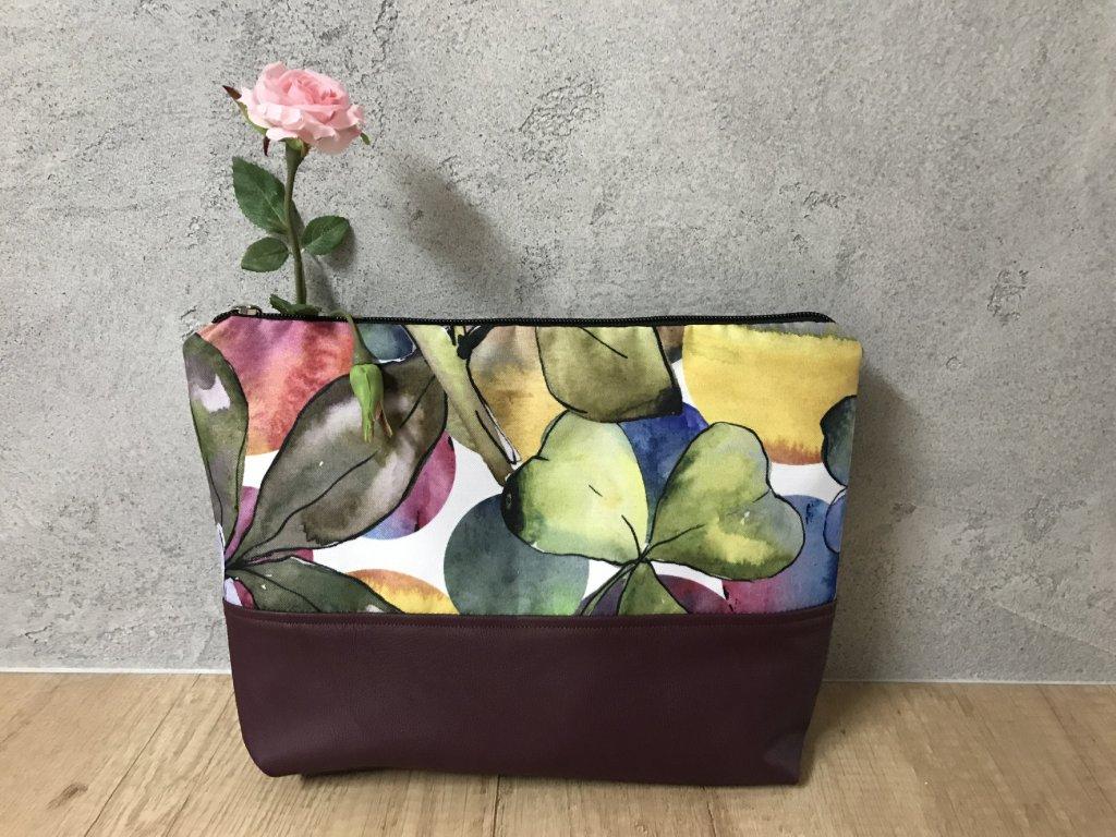 Kosmetická taška - pouzdro - letní květy