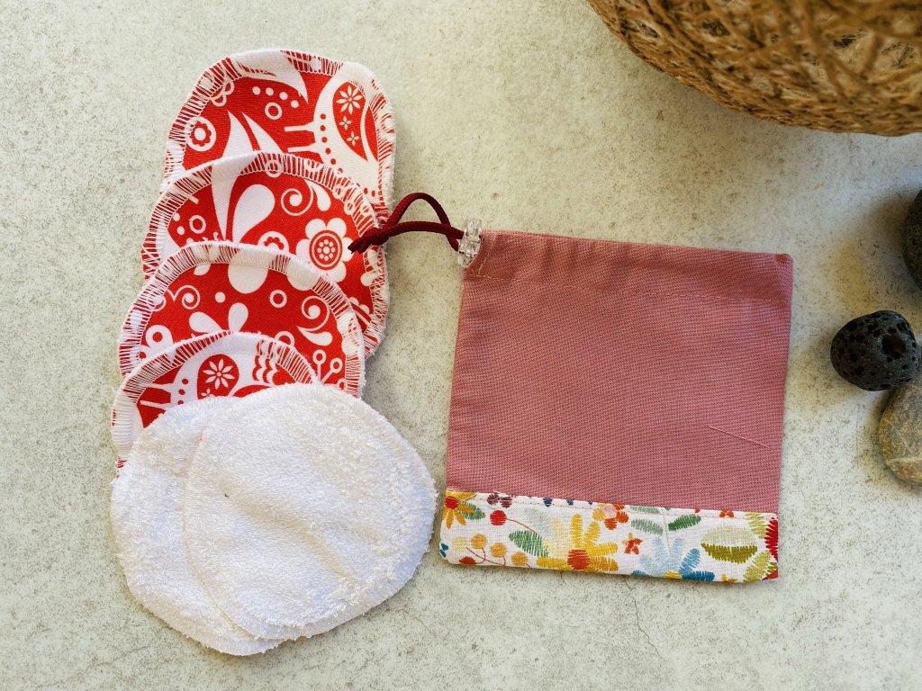 Odličovací tampony - lněný pytlík